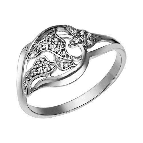 Кольцо из серебра с фианитами - фото 5248