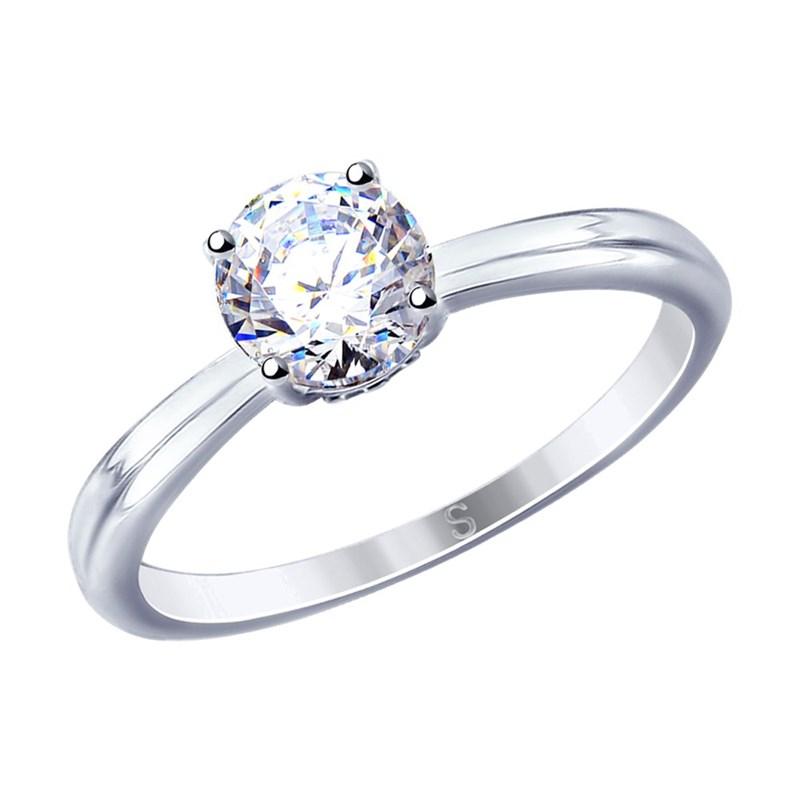Кольцо из серебра с фианитами - фото 5260