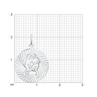 Подвеска «Знак зодиака Близнецы» из серебра - фото 5126