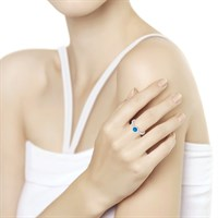 Кольцо из серебра с эмалью - фото 5243