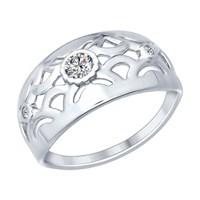 Кольцо из серебра с фианитами - фото 5244
